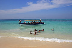 Îles de Rosario, Colombie, des Caraïbes Photos stock