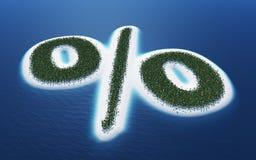 Îles de signe de pour cent Photographie stock