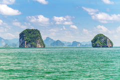 Îles de stationnement national de Phang Nga Photographie stock
