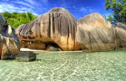 Îles des Seychelles Photos stock