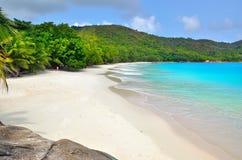 Îles des Seychelles, Praslin, Anse Latium Images libres de droits