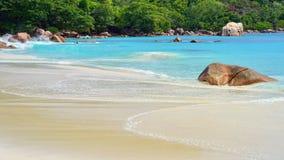 Îles des Seychelles, Praslin, Anse Latium Photo stock