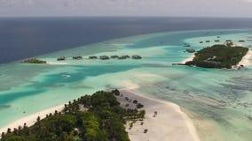 Îles en Maldives de vue aérienne banque de vidéos