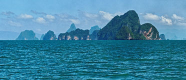 Îles en mer d'Andaman Images libres de droits