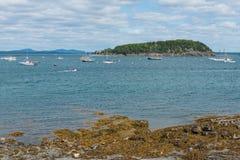 Îles et bateaux Photos stock