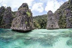 Îles et lagune de chaux Image libre de droits