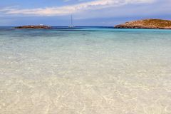 Îles Formentera Île Baléare de plage d'Illetes Images stock