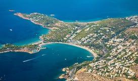Îles grecques avec la vue de primevère farineuse Photo libre de droits