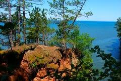 Îles le Wisconsin au bord du lac d'apôtre Photographie stock libre de droits