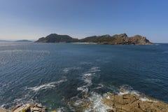 Îles Pontevedra, Espagne de Cies photos stock