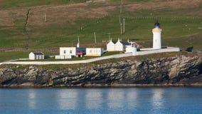 Îles Shetland de phare de Bressay Photo libre de droits