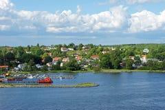 Îles suédoises en été image libre de droits