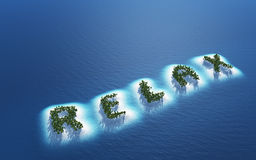 Îles tropicales de détente photographie stock libre de droits