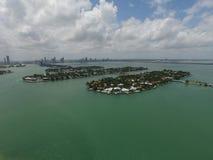 Îles vénitiennes Miami Beach FL Photo libre de droits