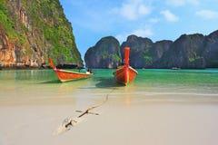 Îles vertes scéniques de côte de la Thaïlande Image libre de droits
