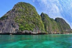 Îles vertes scéniques de côte de la Thaïlande Image stock