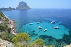 Îlot d'es Vedra d'île d'Ibiza images libres de droits