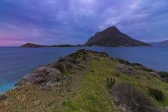 Îlot de Telendos, île de Kalymnos, Grèce Photos stock