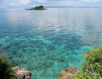 Îlot près de Malapascua, Phils Image libre de droits