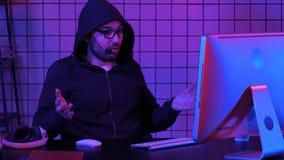 Ρεύμα προσοχής Gamer ή ταινιών Απογοητευμένος στο τέλος στοκ φωτογραφίες
