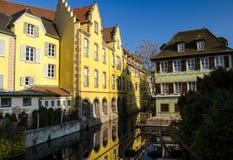 Ρομαντικός περίπατος στη Colmar, Αλσατία, Γαλλία στοκ εικόνα με δικαίωμα ελεύθερης χρήσης