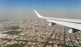 Ρύπανση στην άποψη της Πόλης του Μεξικού από τον αέρα στοκ φωτογραφίες με δικαίωμα ελεύθερης χρήσης
