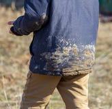Ρύπος στο σακάκι του αγοριού στοκ εικόνες