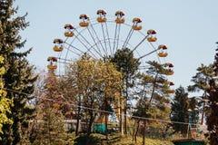 Ρόδα Ferris στο πάρκο στοκ εικόνες