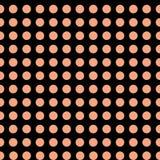 Ρόδινα σημεία Πόλκα στο αφηρημένο άνευ ραφής σχέδιο υποβάθρου λουλακιού διανυσματική απεικόνιση
