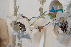 Old electrical installation Royalty Free Stock Photo