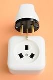 ���Electrical plug and socket combination. Stock Photo
