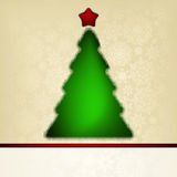 �hristmas card template with halftone tree. EPS 8 Royalty Free Stock Photography