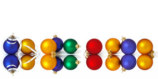 �ollection of christmas spheres Royalty Free Stock Images