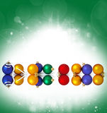 �ollection of christmas spheres Stock Images