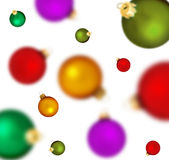 �ollection of holiday spheres Royalty Free Stock Photo