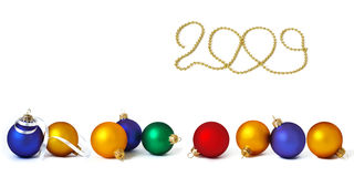 �ollection of holiday spheres Stock Photos
