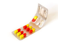 �olorful pills isolated Stock Images