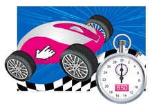 �omputer mouse and stopwatch Royalty Free Stock Images