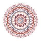 Όμορφη ινδική διακόσμηση, σχέδιο mandala Επίπεδη απλή διανυσματική απεικόνιση σχεδίου στοκ φωτογραφία με δικαίωμα ελεύθερης χρήσης