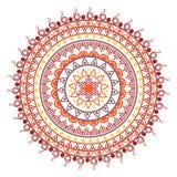 Όμορφη ινδική διακόσμηση, σχέδιο mandala Επίπεδη απλή διανυσματική απεικόνιση σχεδίου στοκ εικόνες