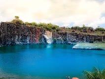 Όμορφη και φυσική μπλε λιμνοθάλασσα σε Recife, Βραζιλία στοκ εικόνες