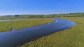 Όμορφη φύση στο πάρκο χώρας επτά αδελφών στην Αγγλία απόθεμα βίντεο
