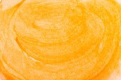 Όμορφο αφηρημένο υπόβαθρο κλίσης των θερμών χρωμάτων και σκιές κίτρινου πορτοκαλιού Ομόκεντρα swirly κτυπήματα πινέλων στοκ εικόνα με δικαίωμα ελεύθερης χρήσης