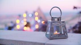 Όμορφο φανάρι με το κερί απόθεμα βίντεο