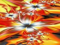 Όμορφο floral αφηρημένο υπόβαθρο fractals στοκ εικόνα