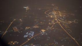 Όψη από το παράθυρο αεροπλάνων bay bridge ca francisco night san time απόθεμα βίντεο