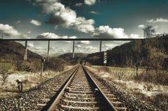 Όταν η γραμμή μεταφοράς συναντιέται στοκ εικόνες