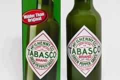 Σάλτσα Tabasco από McIlhenny Company και Trademark Logo στοκ εικόνα