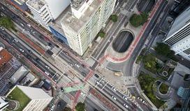Σάο Πάολο, Avenida Paulista και οδός Consolacao στοκ φωτογραφία με δικαίωμα ελεύθερης χρήσης