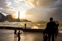 ΣΕΒΑΣΤΟΥΠΟΛΗ, ΚΡΙΜΑΙΑ - 24 ΣΕΠΤΕΜΒΡΊΟΥ 2014: Θύελλα στον κόλπο πυροβολικού στοκ εικόνα με δικαίωμα ελεύθερης χρήσης